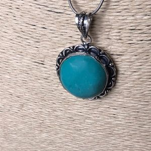 Turquoise Natural Stone Vintage Style Necklace